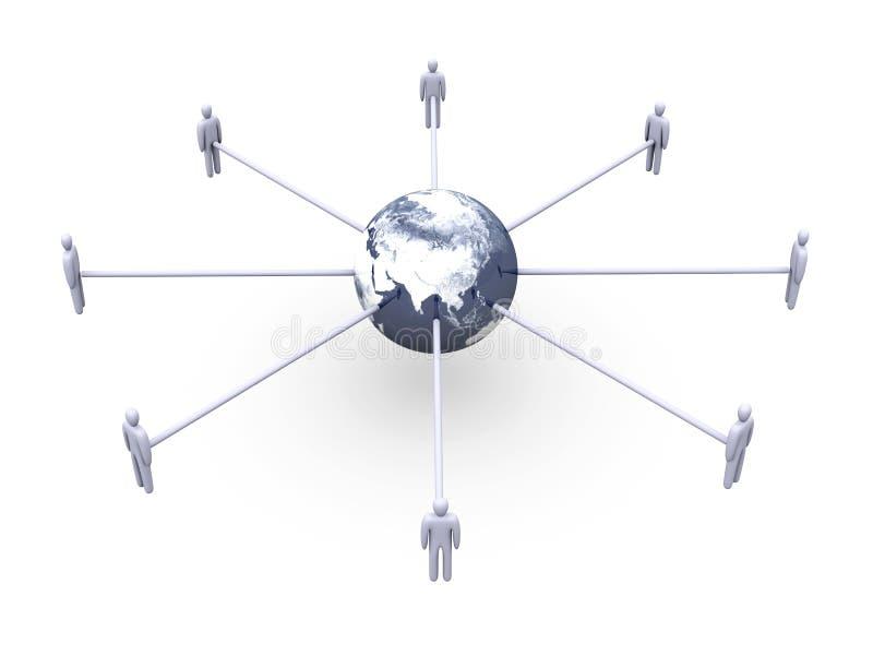 Conexões globais - Ásia ilustração do vetor