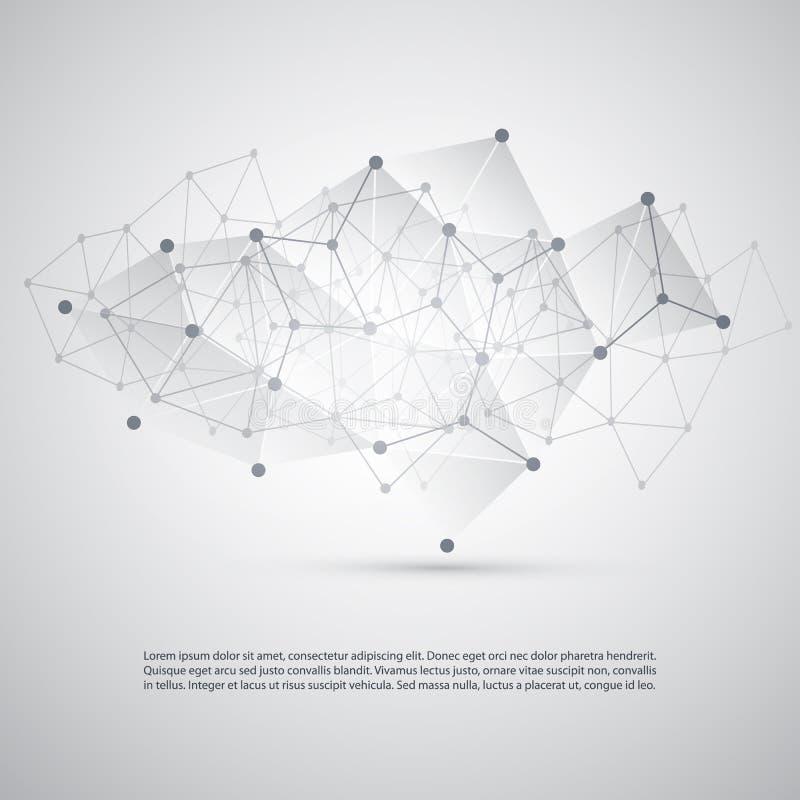 Conexões - moleculars, projeto de rede do negócio global - Mesh Background abstrato ilustração royalty free