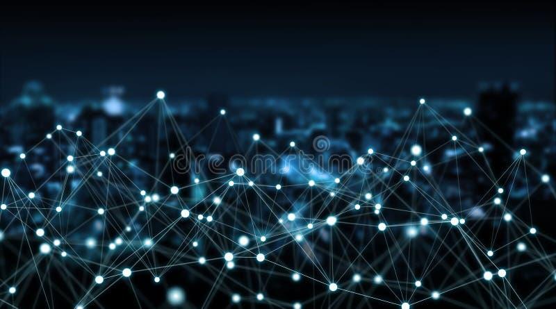Conexões sistema e rendição das trocas de dados 3D ilustração royalty free