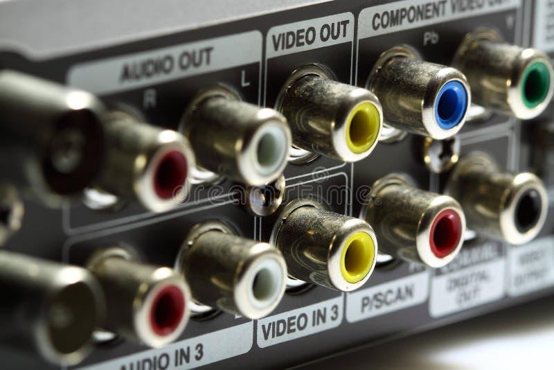 Conexões video audio A imagem de stock
