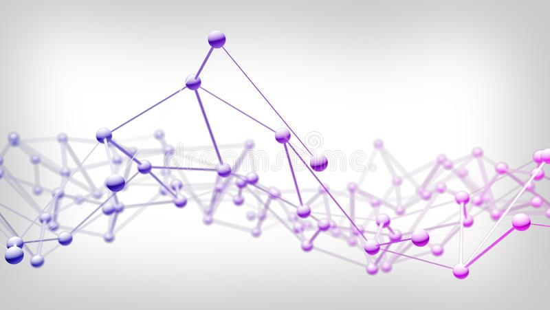 Conexión abstracta del fondo de la tecnología de red stock de ilustración