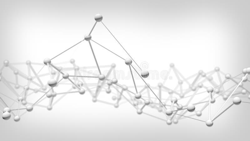 Conexión abstracta del fondo de la tecnología de red ilustración del vector