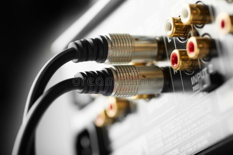 Conexión audio foto de archivo libre de regalías
