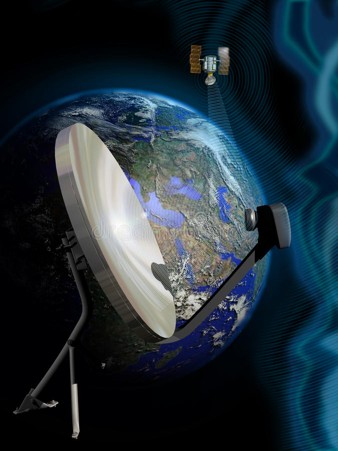 Conexión basada en los satélites libre illustration