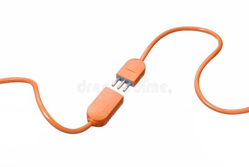 Conexión de cable. foto de archivo libre de regalías