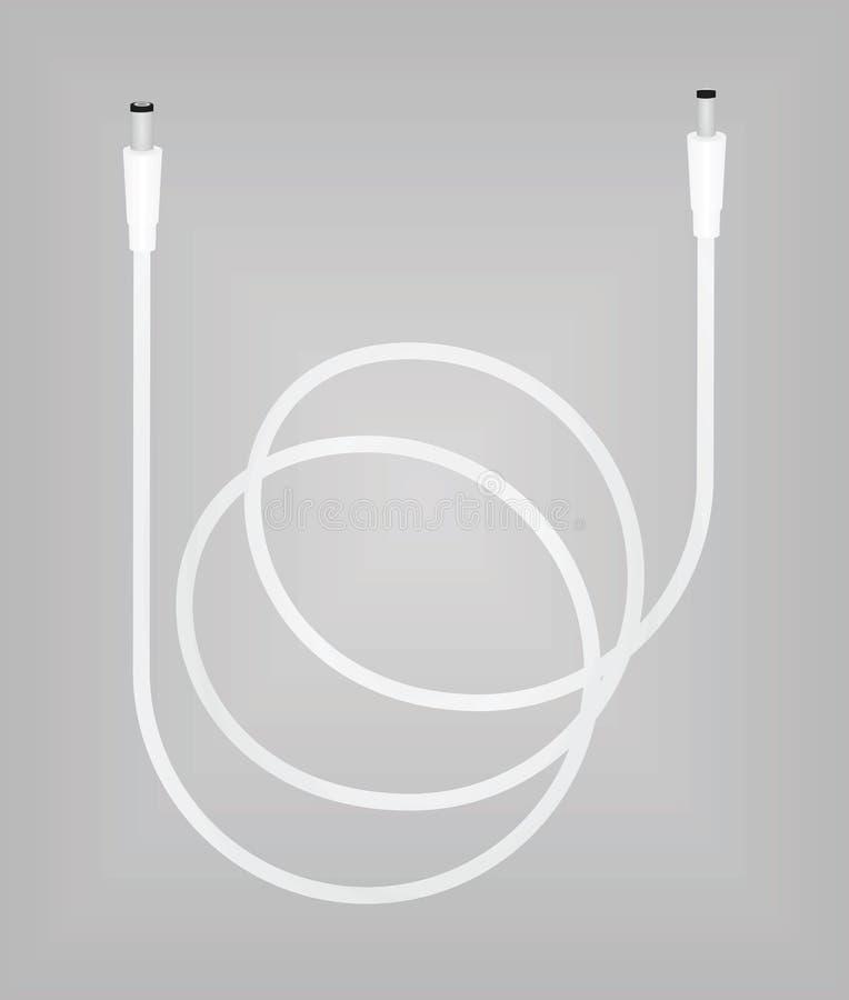 Conexión de cable blanca libre illustration