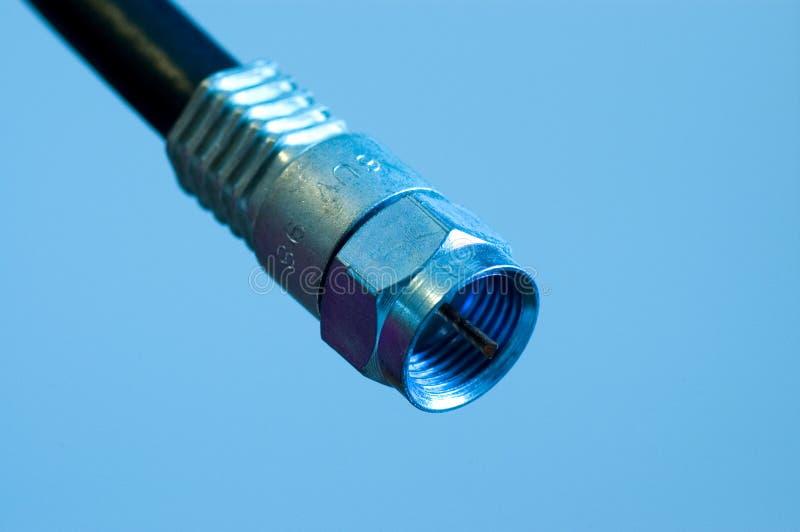 Conexión de cable coaxial foto de archivo