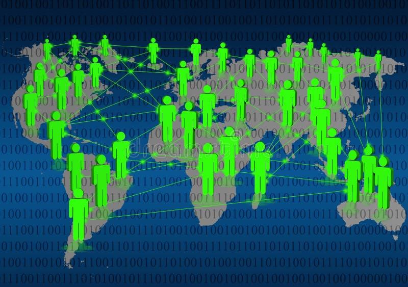 Conexión de datos libre illustration
