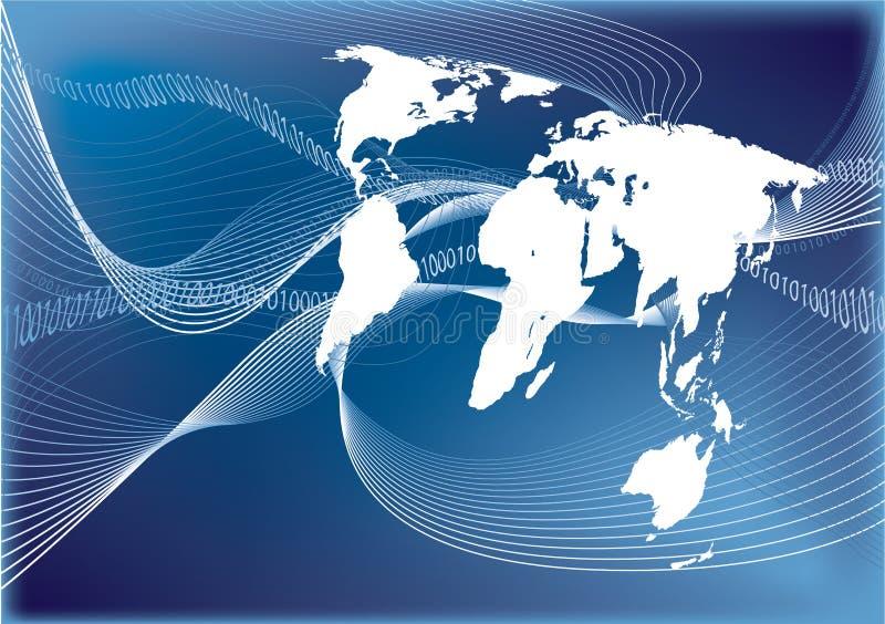 Conexión de la comunicación del mundo stock de ilustración