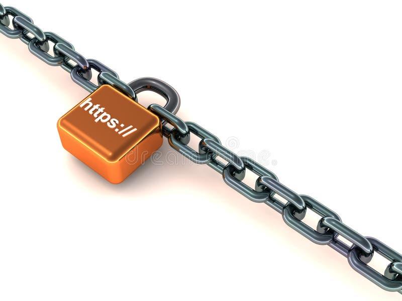Conexión de la conexión segura de Htts stock de ilustración