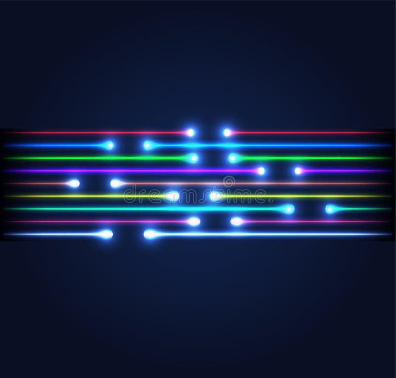 Conexión de la fibra óptica stock de ilustración