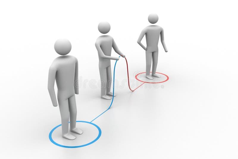 conexión de la gente 3d libre illustration