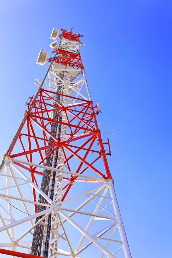 Conexión de la radioestación retransmisor, estación base móvil. fotografía de archivo libre de regalías