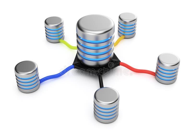 Conexión de los servidores de base de datos libre illustration