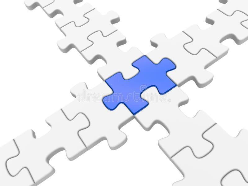Conexión de puente del rompecabezas ilustración del vector