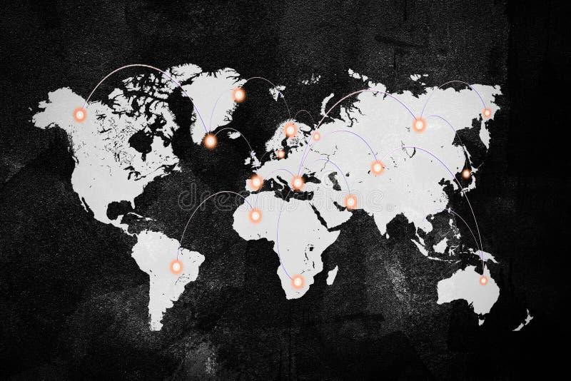 Conexión de red global, backgroun mundial del negocio de Internet imágenes de archivo libres de regalías