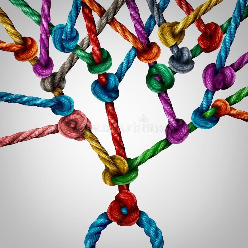Conexión del árbol de la red libre illustration