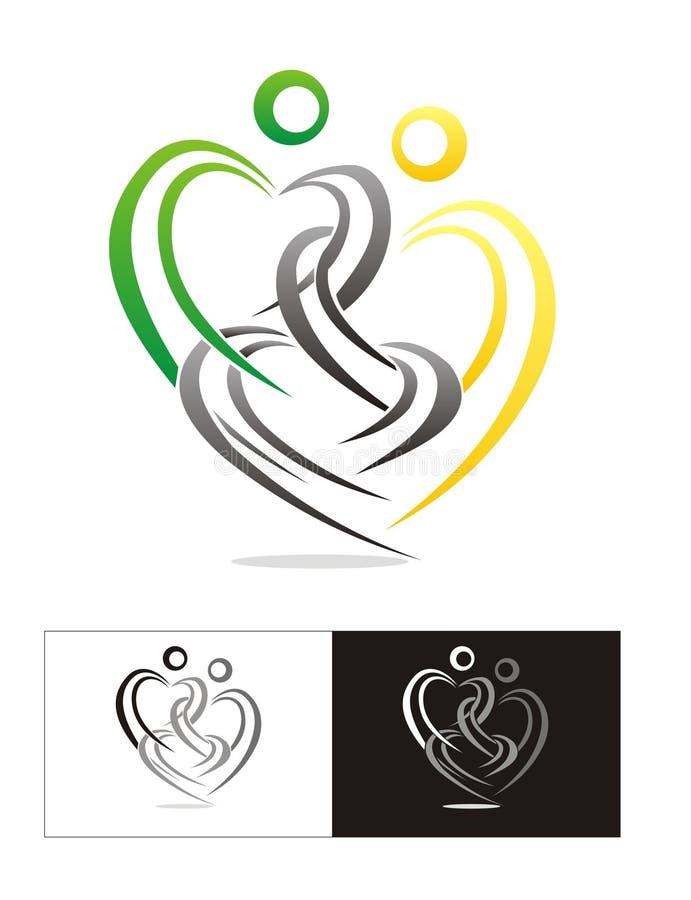 Conexión del amor stock de ilustración