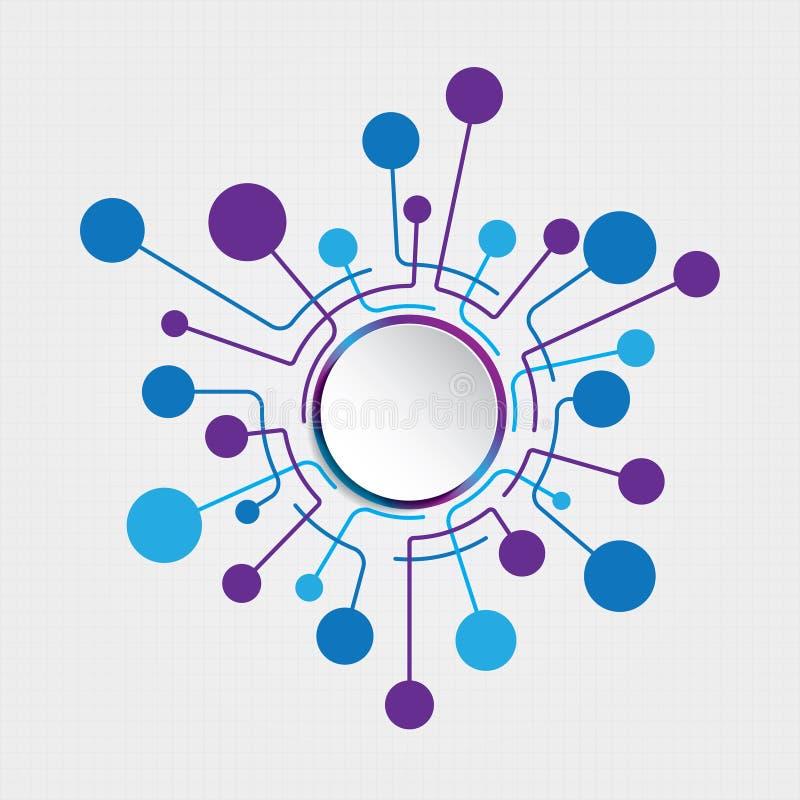 Conexión del círculo ilustración del vector