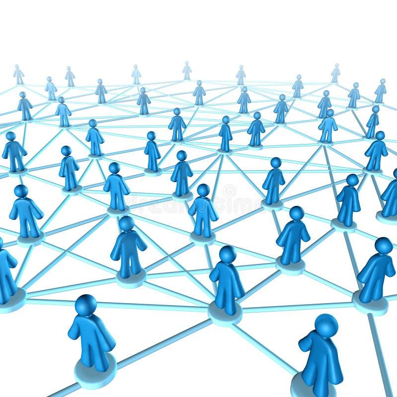 Conexión del comunication del establecimiento de una red stock de ilustración
