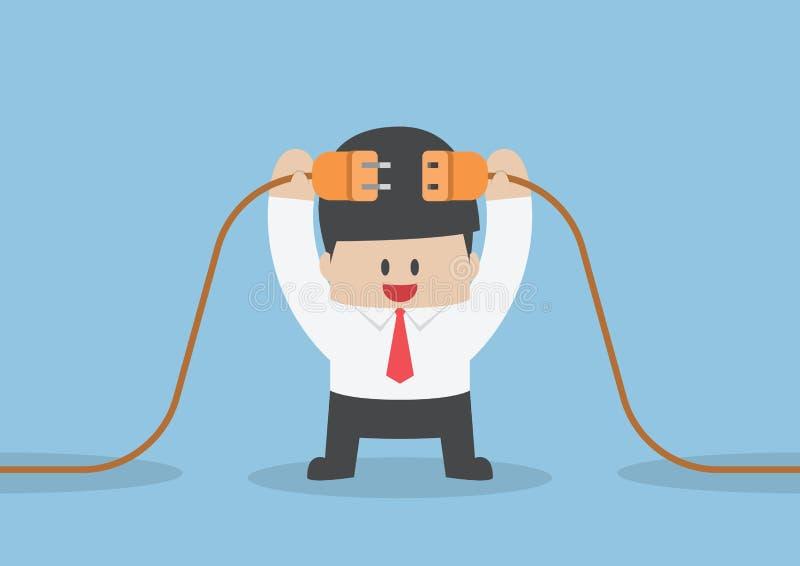 Conexión del hombre de negocios ilustración del vector