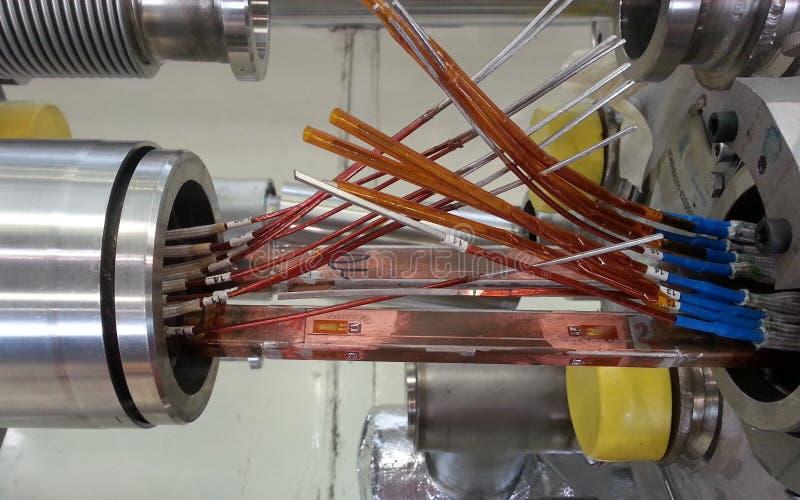 Conexión del imán de LHC imagen de archivo