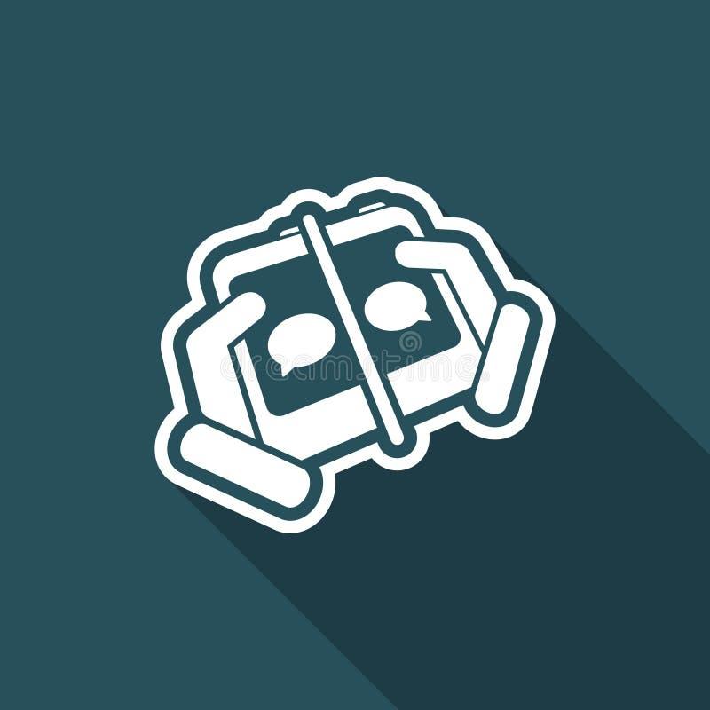 Conexión del móvil de la charla ilustración del vector