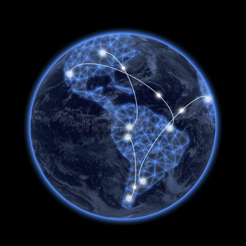 Conexión del mundo imagen de archivo