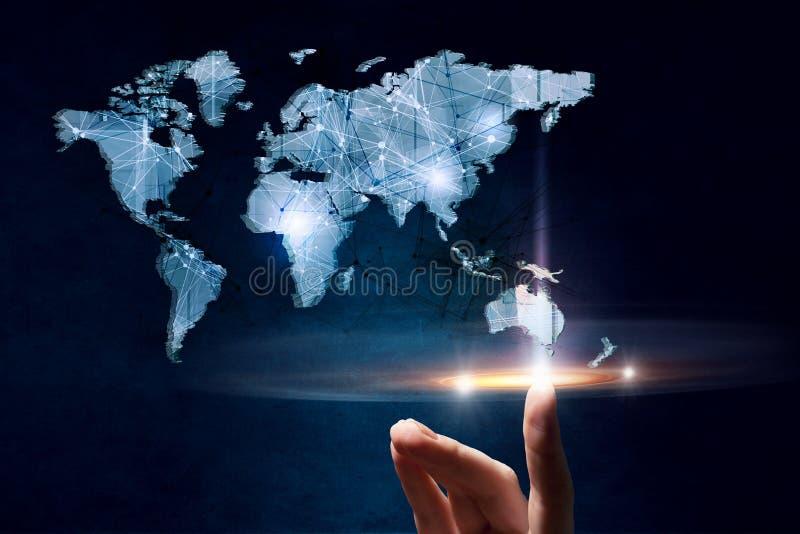 Conexión del mundo entero foto de archivo libre de regalías