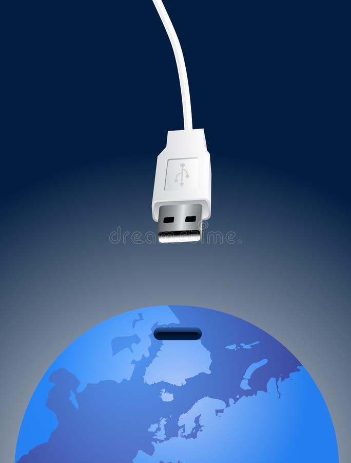 Conexión del vector del mundo stock de ilustración