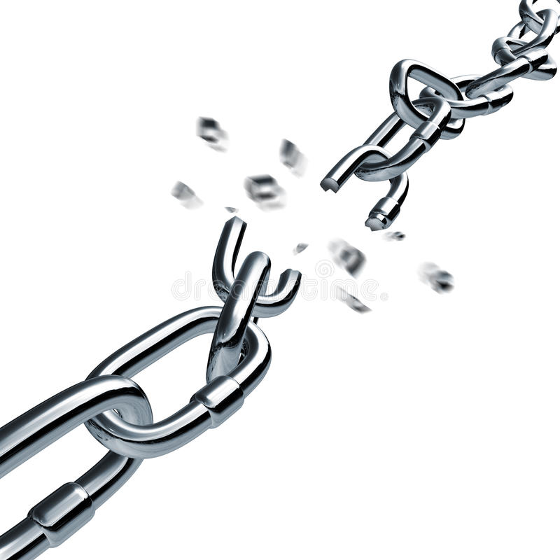 Conexión disconnected rota de fractura de cadena de la conexión libre illustration