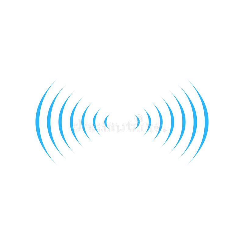 conexión en dos dirrections, símbolo sano de la señal de sonidos del wifi del logotipo de la onda de radio Ejemplo del vector ais libre illustration