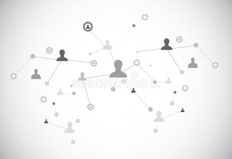 Conexión humana stock de ilustración