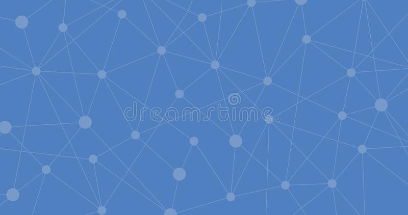 Conexión a internet azul, fondo abstracto molecular sentido de la ciencia y del diseño gráfico de la tecnología Ilustraci?n del v stock de ilustración
