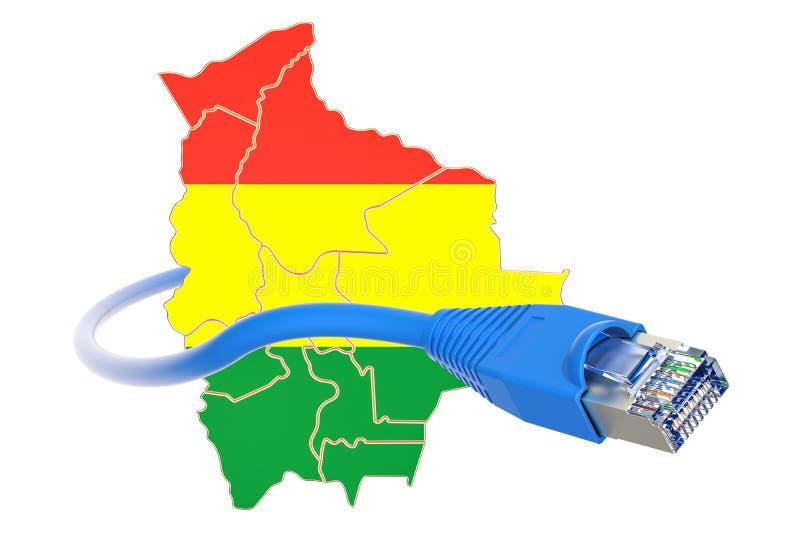 Conexión a internet en el concepto de Bolivia representación 3d ilustración del vector