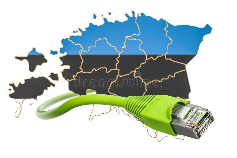 Conexión a internet en el concepto de Estonia representación 3d ilustración del vector