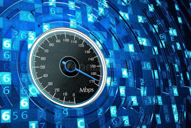Conexión a internet, funcionamiento de red y concepto de alta velocidad de la informática foto de archivo