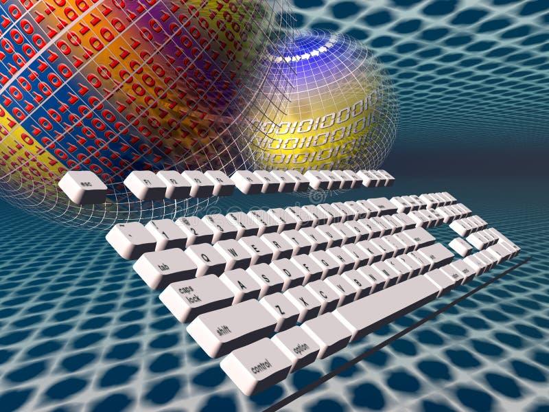 Conexión a internet, teclado libre illustration