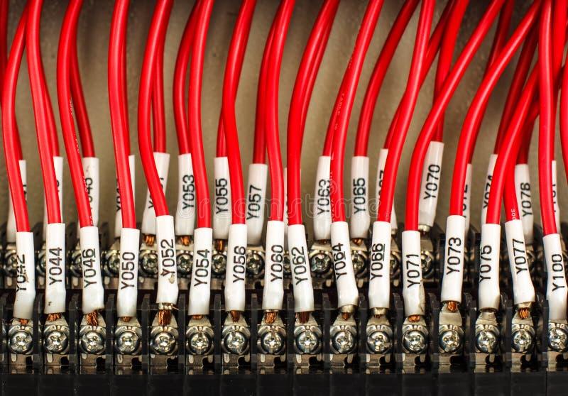 Conexión -- Panel de control con los alambres fotografía de archivo libre de regalías