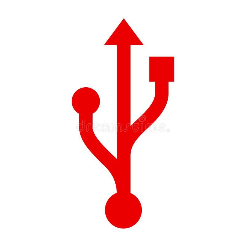 Conexión USB - vector libre illustration