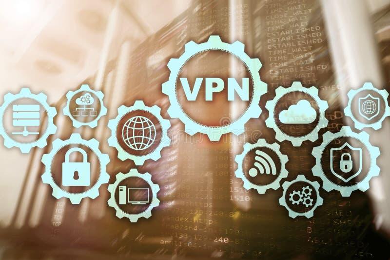 Conexi?n segura del VPN Virtual Private Network o concepto de la seguridad de Internet stock de ilustración