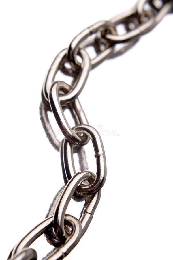 Conexiones de cadena de acero fotografía de archivo libre de regalías