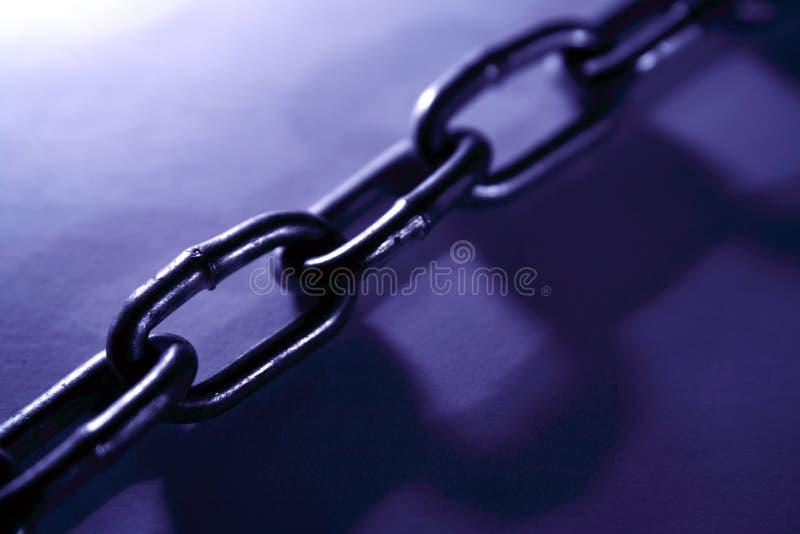Conexiones de cadena de acero fotos de archivo libres de regalías