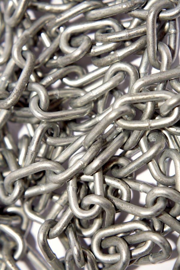 Conexiones de cadena de acero imágenes de archivo libres de regalías