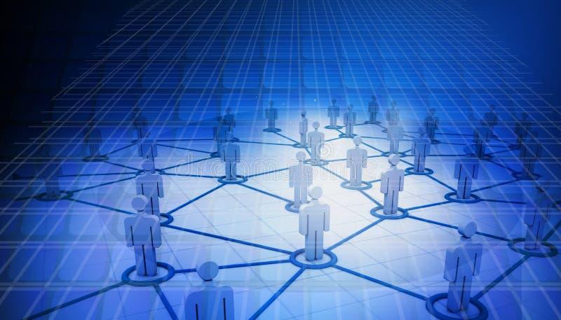 Conexiones de red del negocio ilustración del vector
