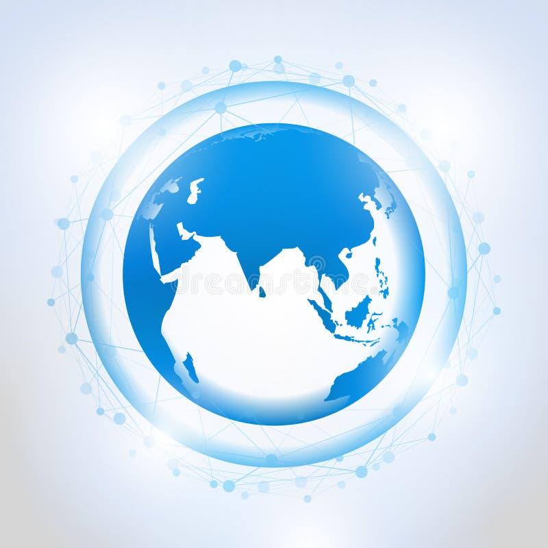 Conexiones de red global libre illustration