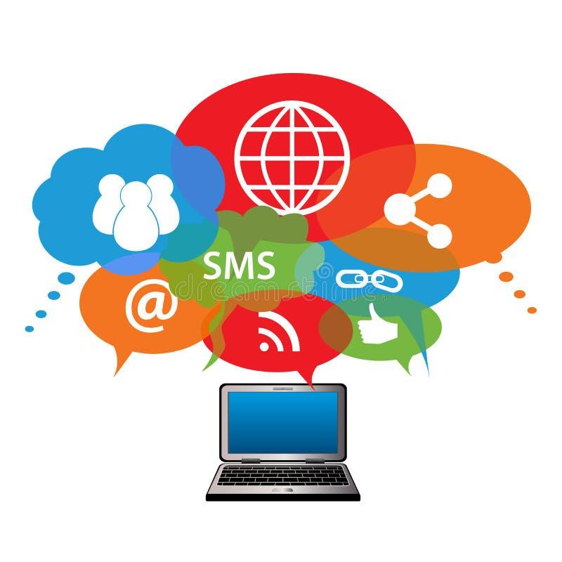 Conexiones de red sociales ilustración del vector