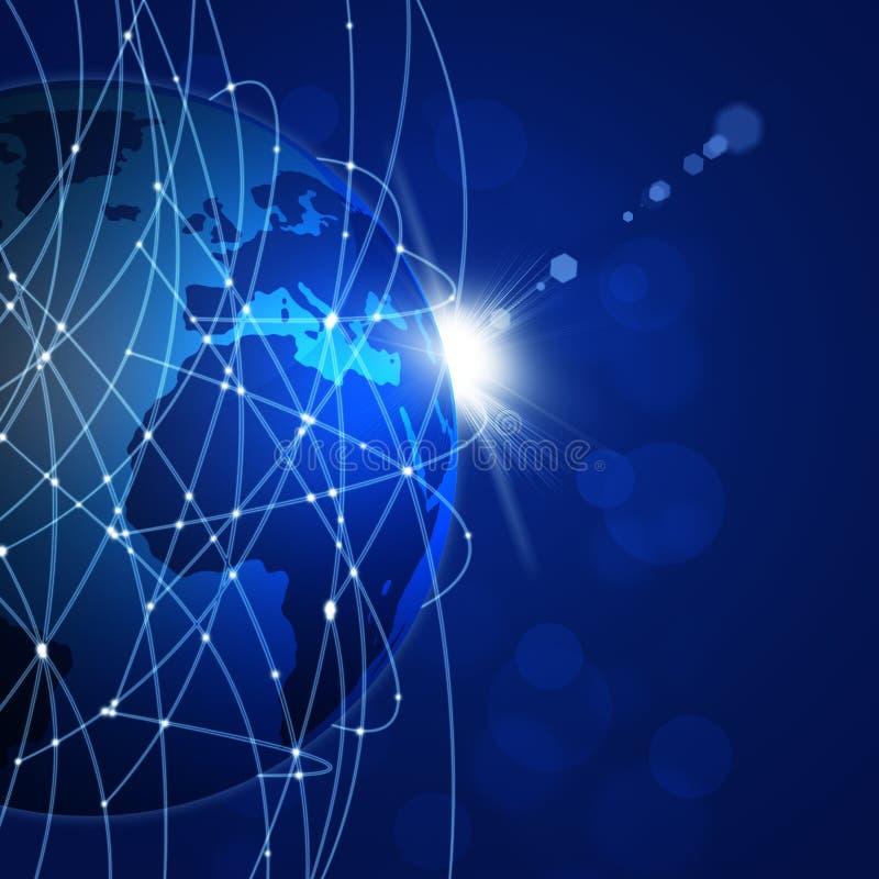 Conexiones a internet globales stock de ilustración