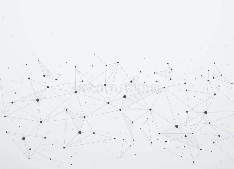 Conexiones a internet globales con los puntos y las líneas libre illustration