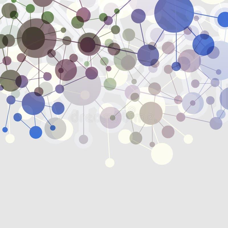 Conexiones - molecular colorido, global, diseño de red del negocio libre illustration